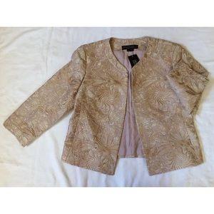 LAFAYETTE 148 Gold Brocade Silk Puckered Jacket 6P